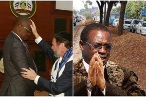 Millionaire Nairobi politician pictured with preacher who prayed for Donald Trumps victory(photos)