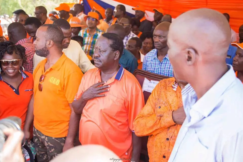 Raila Odinga hangs out with Lupita Nyong'o in Kampala