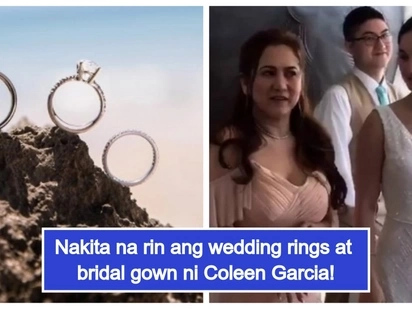 Simple pero elegante! 1st look at Coleen Garcia's wedding gown & wedding rings