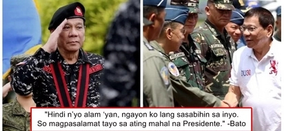 Pinanindigan ang pangako! General Bato revealed that President Duterte threatened to resign if the salary of cops and soldiers will not be raised