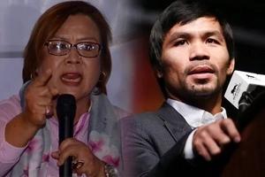 Isang malaking kasinungalingan! De Lima firmly denies Pacquiao's claim linking her to illegal drug trade