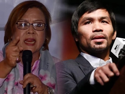 Isang malaking kasinungalingan! De Lima firmly denies Pacquiao's claim linking her to illegal drug trade