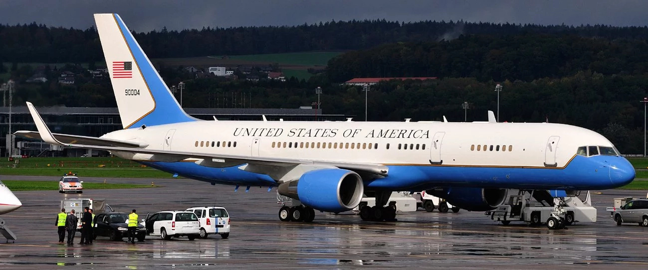 US Secretary of State John Kerry's official plane