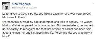 War veteran's daughter renege on anti-Marcos advocacy