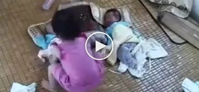 Kawawa yung sanggol! Pinoy baby suffers 2 shocking accidents at the hands of his curious sister