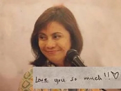 Is VP Leni in love? Check out this love letter that she received!