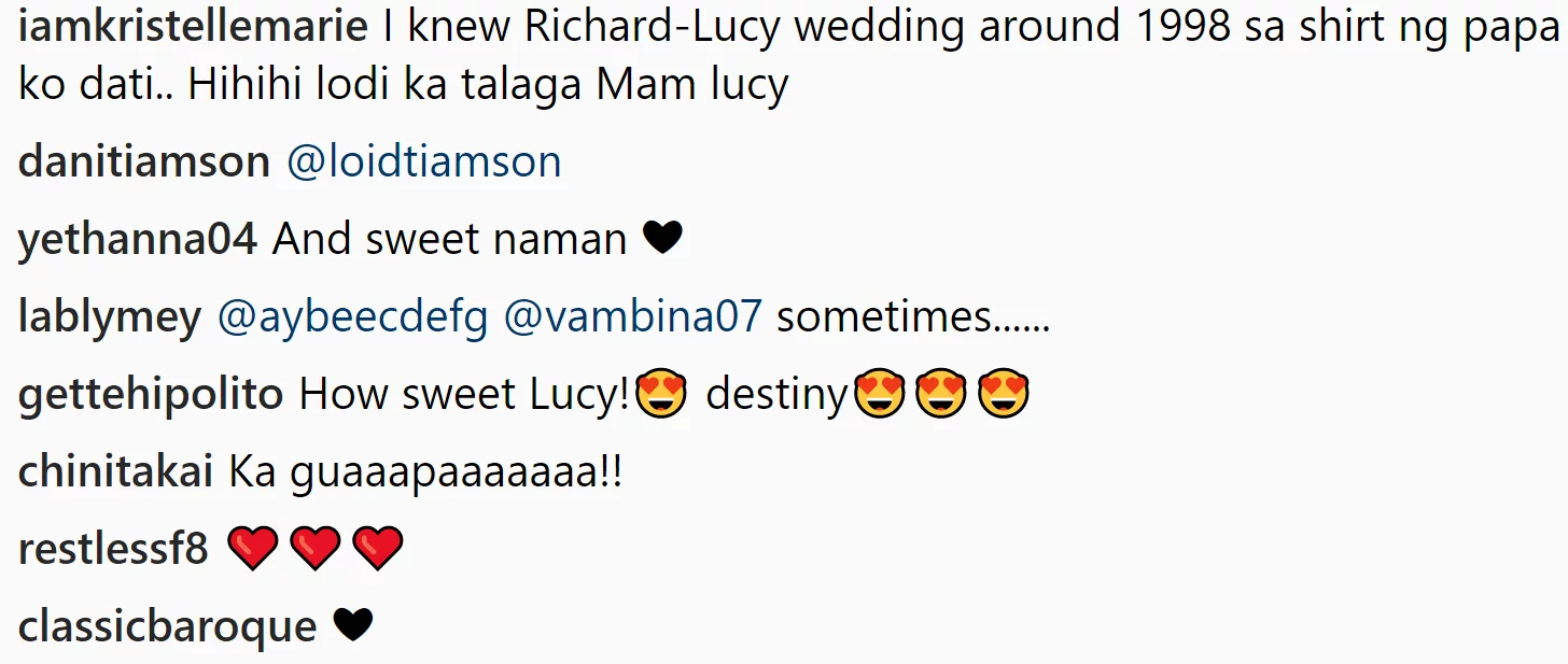 Sobrang meant to be! Picture of Lucy Torres when she was 19 years old taken by Richard Gomez spreads 'kilig' vibes