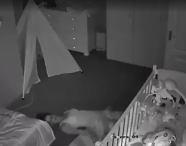 Man installed security cameras into his baby's room. When he was scrolling through the footage, he saw his wife suspiciously laying down on the floor.