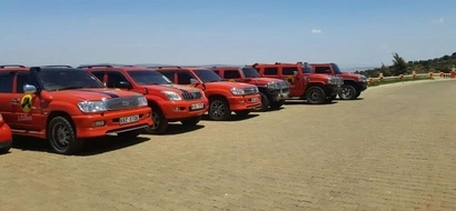 Mike Sonko pulls a first one and brands all his guzzlers in Jubilee Party colours