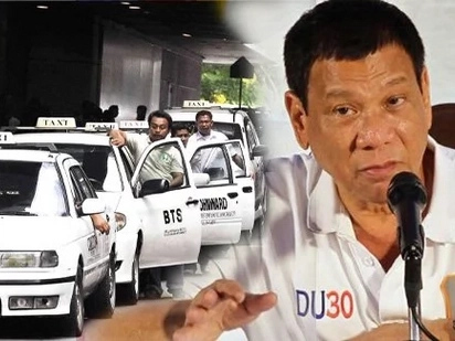 Furious Duterte vows to cut off balls of taxi drivers who molest passengers