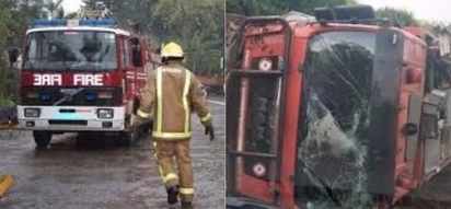 Fire engine driver crashes truck on Mombasa road enroute to visit girlfriend