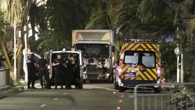 Truck drives into a crowd of revelers in France, kills 84