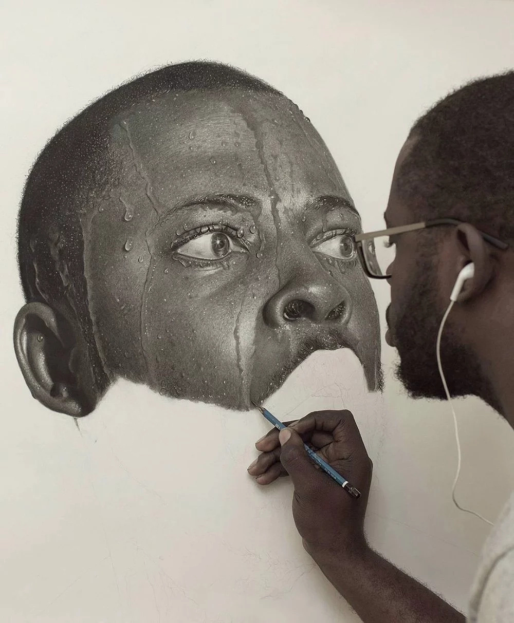 AMAZING ARTIST! These IMPACTING life-sized portraits are completely UNBELIEVABLE in their beauty (photos)