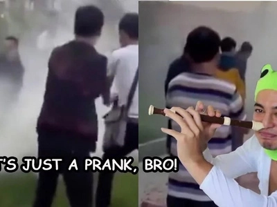 Bride is left screaming to disaster as wedding prank turns to disaster
