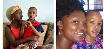 Ugandan mother grapples with 6-year old son's rare health condition (details, photos)