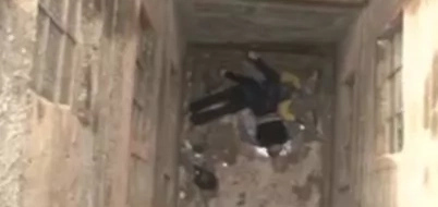 Disturbing image: Two lovers plummet to their death from a balcony in Kariobangi