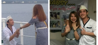 Kakilig na surprise! Filipina visited his seaman boyfriend aboard the ship and got a surprise proposal instead