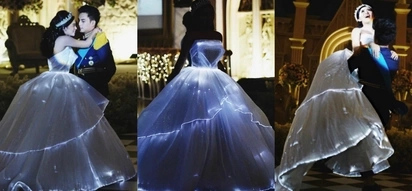 Asian Cinderella spotted! This bride's magical light-up wedding dress will give you the fairy tale feels