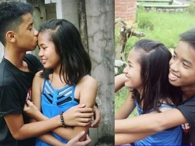 Bes Tinalo Ka Pa! Look, Alleged Tween Couple Posed Prenup Photoshoot!