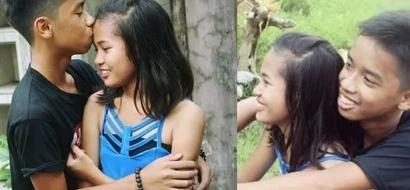 Bes Tinalo Ka Pa! Look, Alleged Tween Couple Posed Prenup Photoshoot!