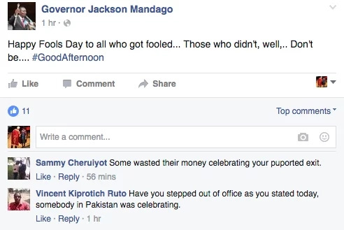 Governor tricks his constituents and other April Fools pranks