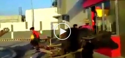 Hilarious video shows hungry Pinoys riding carabao ordering food at Jollibee's drive-thru
