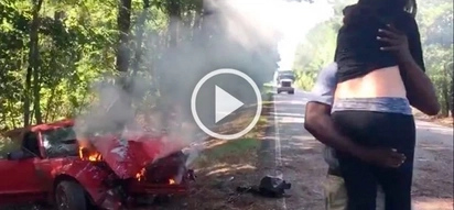 Valliant photographer risks his life by saving pregnant woman from burning car on the road