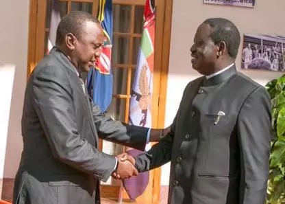 Raila Odinga to meet Uhuru right in his own BACKYARD