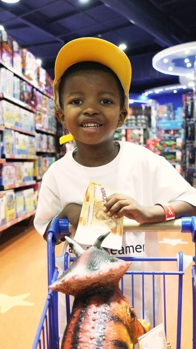 Lungelo was joyful after having his wish fulfilled. Photo: Times Live
