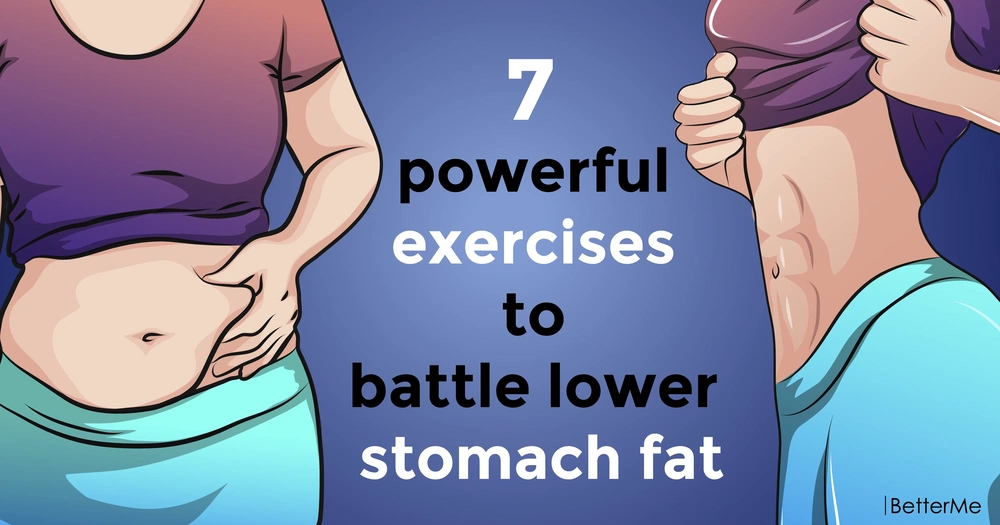7 powerful moves to battle lower stomach fat