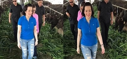 Walang arte! Kris Aquino bonds with the kalabaws