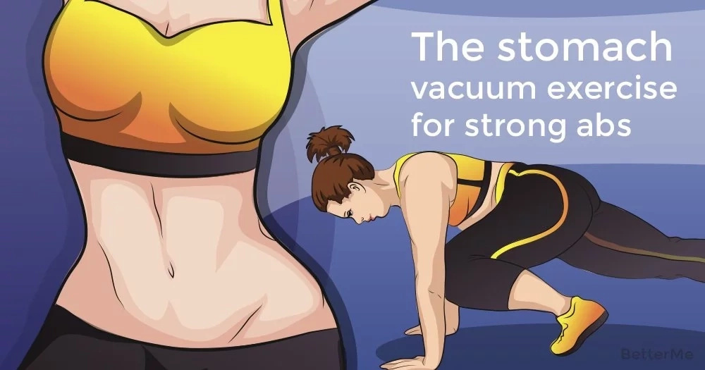 The stomach vacuum exercise for strong abs