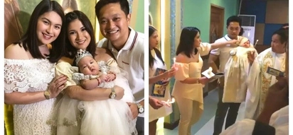 Star-studded ang baptism! Super cute baby girl of Camille Prats and John Yambao gets baptized in Catholic Church