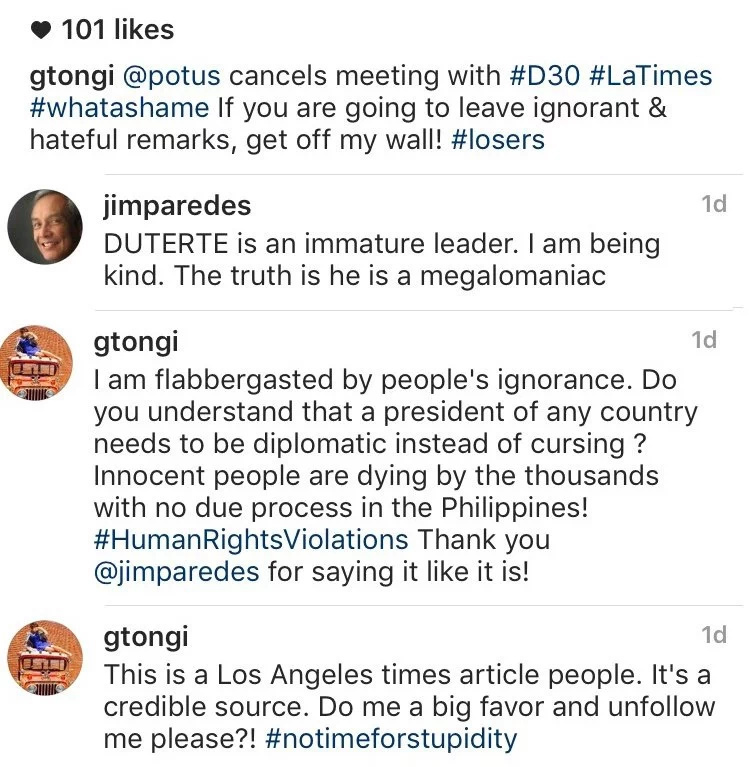 G Tongi wants no hateful, ignorant comments on her Insta