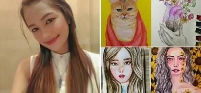 May pera sa pagpipinta! Young artist proves naysayers wrong by flaunting first art exhibit after hearing 'mukhang unggoy portrait mo' for years