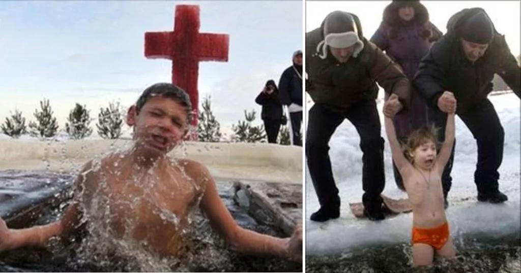 La tendencia en Rusia de lanzar niños a ríos congelados