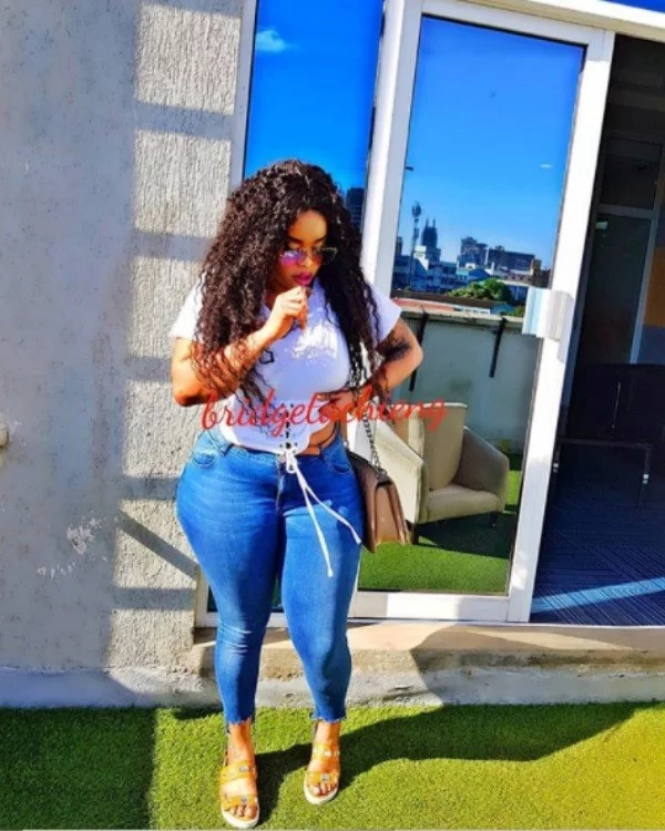 Voluptuous Nairobi socialite Bridget Achieng steps out looking like an old woman after cheap bleaching