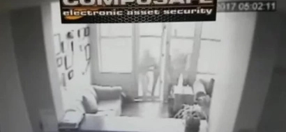 Thieves got shock of their lives after being hit by PEPPER SPRAY alarm (see photos, video)