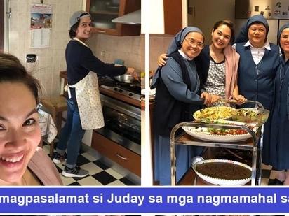 Di nakakalimot magpasalamat sa mga nagmamahal sa kanya! Judy Ann Santos cooks a hearty dinner for nuns in Vatican