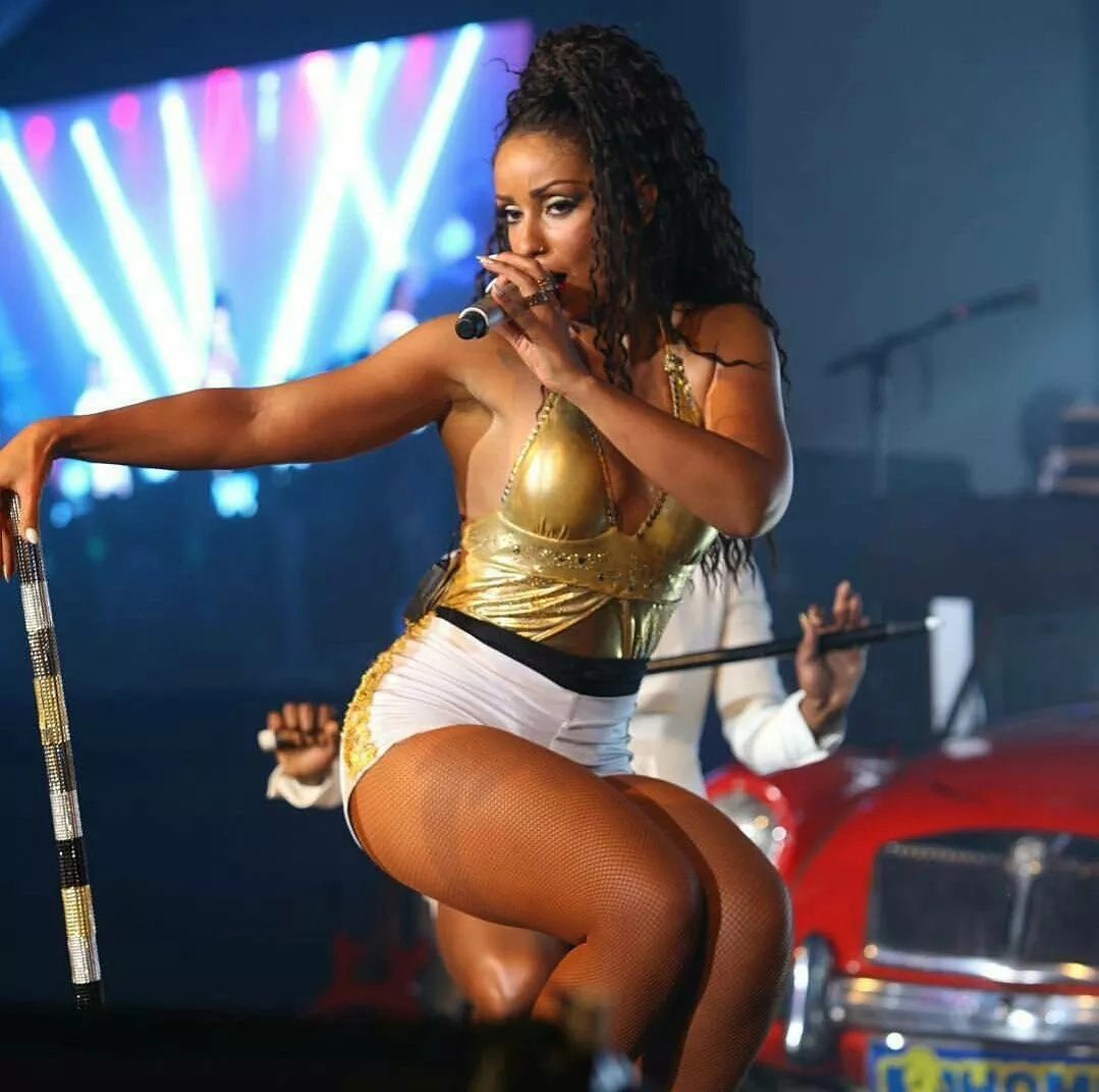 American singer, Mya tears Ngong racecourse down (photos)