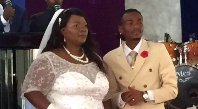 27-year-old Gospel artist thanks God for marrying woman twice his age (photos, video)