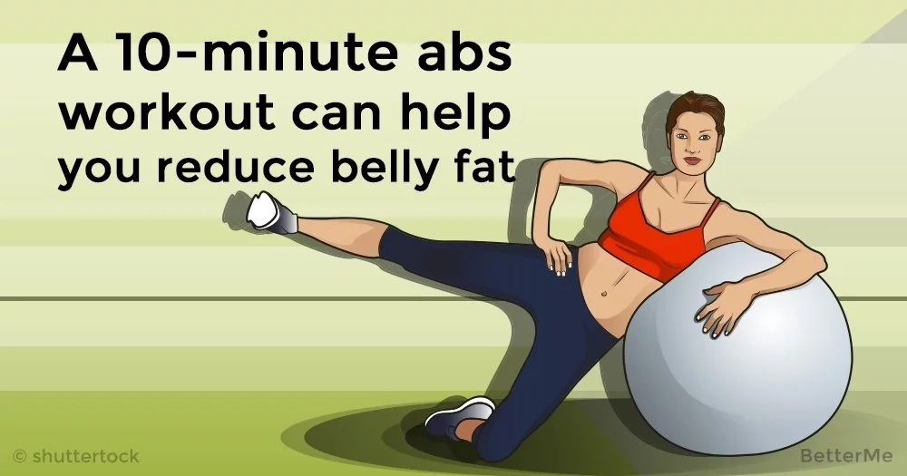 A 10-minute abs workout can help you reduce belly fat