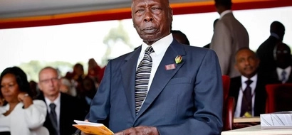 Close-range photos that aptly captures former president Moi's advanced age