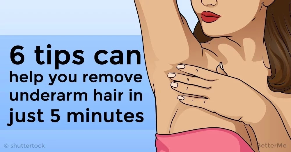 6 tips can help you remove underarm hair in just 5 minutes