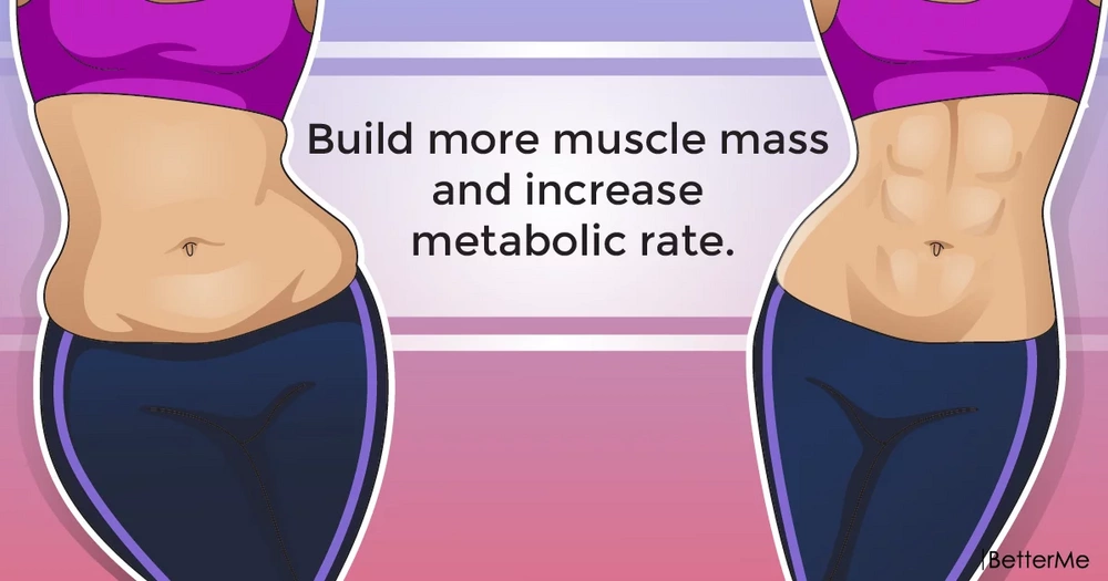 Build more muscle mass and increase metabolic rate