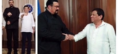 Pareho silang action stars! Hollywood actor Steven Seagal visits President Duterte in Malacañang