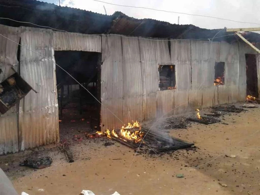 Fire destroys dormitory at Moi Girls in Suba
