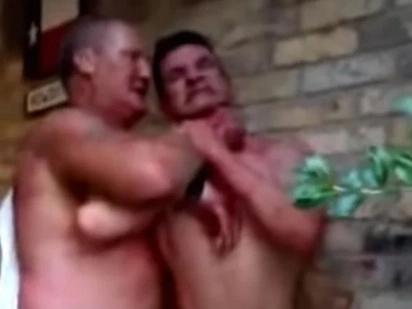 Two Drunk Rednecks Get Into A Brutal Fight Over The Last Beer