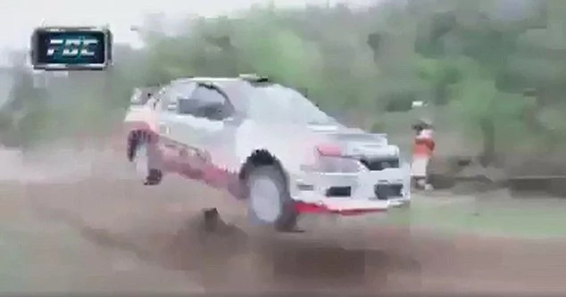 Inches from death! Freakingly lucky dog dodges a race car