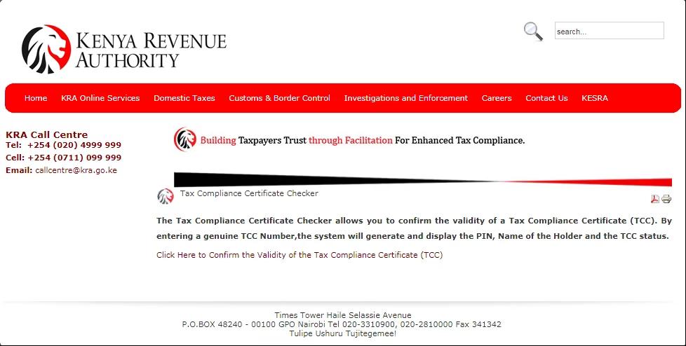 87 FREE TAX COMPLIANCE CERTIFICATE APPLICATION KENYA PDF DOWNLOAD DOCX